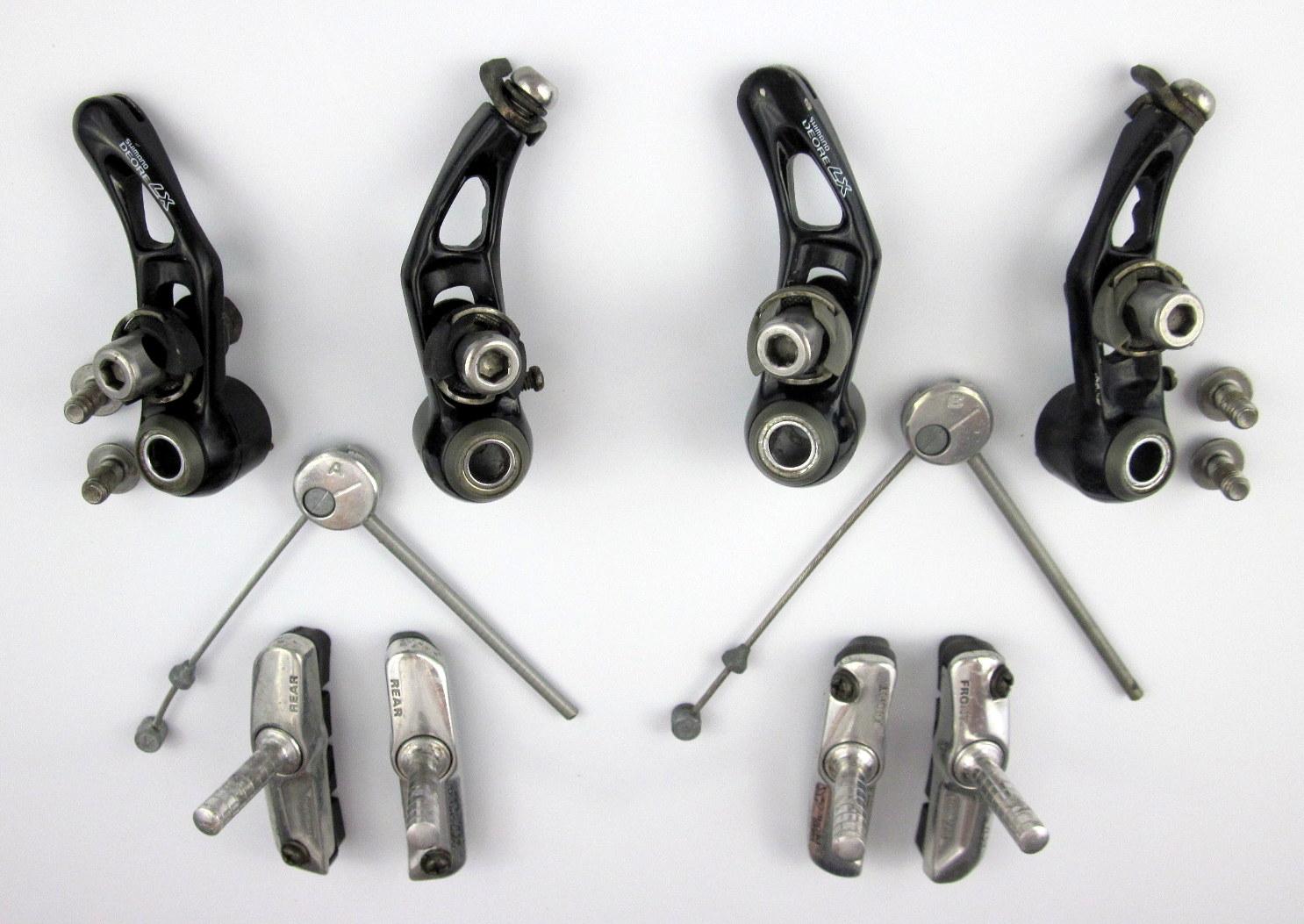 Komplettes V-Brake-Bremsen-SET  für  Voder. und Hinterrad